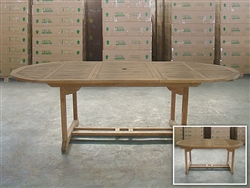 Cloyne Oval Extension Table 180cm/240cm x 120cm