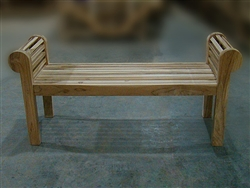 "150cm/60"" Lutyen Teak Backless Bench"