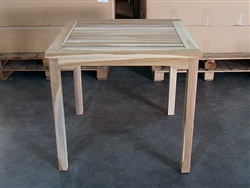 Bergas Teak Square Bistro Table 80cm