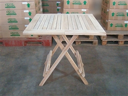 Folding Square Teak Bistro Table 80cm/32""