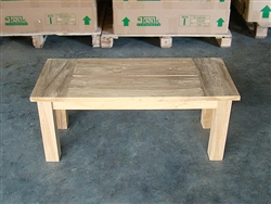 "100cm/39"" BG Teak Backless Bench"