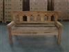 "193cm/76"" Mutt Recycled Teak Bench #0015"
