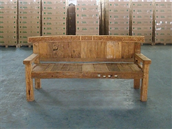 "196cm/77"" Mutt Recycled Teak Bench #0026"
