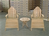 teak adirondack chair combo set