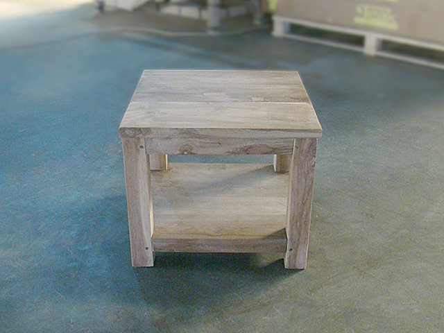 Recycled side table 50x50 20 x 20 for Table 50x50