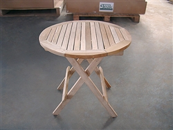 teak side table round