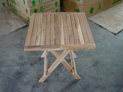 teak side table square