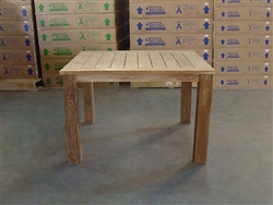 "Recycled Teak Table - 120x120 - 47"" x 47"""