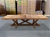 British Gardens FSC Recycled Teak Trestle Table 300x110cm #100