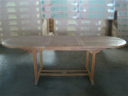 Dungleo Oval Extension Table 180cm/240cm x 90cm