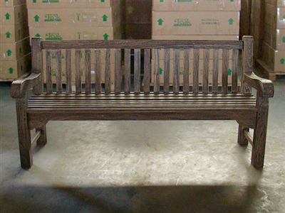 "180cm/72"" Oxley Teak Bench Special Finish Black"