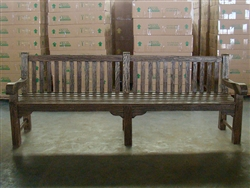 "240cm/94"" Oxley Teak Bench Special Finish Black"