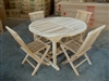 Bondo Teak Dining Table w/ 4 Folding Chairs