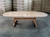 Eden Oval Double Extension Table 200cm regular to 300cm w/extension x 120cm width