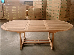 Callan Oval Extension Table 180cm regular to 240cm w/extension x 120cm width v2