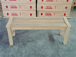 teak Rinjani garden bench 120 backless
