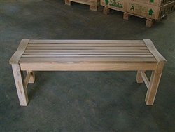 "120cm/48"" Rinjani Backless Teak Bench"