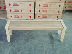 teak Rinjani garden bench 150 backless