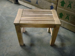 teak Rinjani garden bench 60 backless
