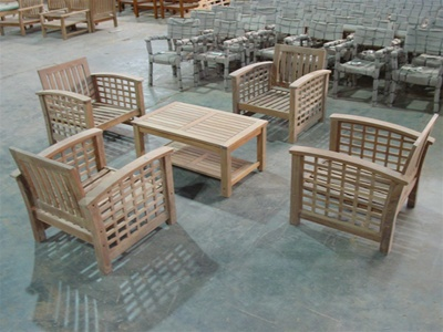 teak lombok deep seating chair set