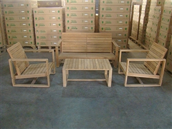 Melaya Teak Deep Seating Set