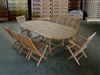 Kalimantan Teak Table Set w/ choice of chairs