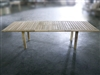 Katana Rectangle Double Extension Table 200cm regular to 300cm w/extension x 120cm width