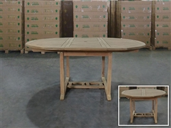 Lampung Round Extension Table 120cm/170cmx120