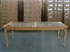 Monroe Rectangle Teak Table 220x100cm w/ Glass