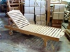 Teak English Sun Lounger