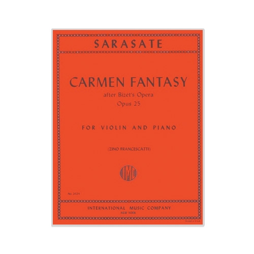 Sarasate - Carmen Fantasy - Sheet Music