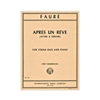 Faure Apres Un Reve Double Bass Sheet Music