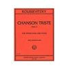 Koussevitzky Chanson Triste Double Bass Sheet Music