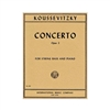 Koussevitzky Double Bass Concerto Sheet Music