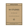 Kreutzer 18 Studies Solo Double Bass Sheet Music