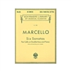 Marcello Six Sonatas Double Bass Sheet Music