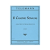 Telemann 6 Canonic Sonatas 2 Double Basses Sheet Music