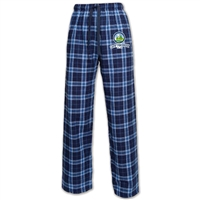 100% double-brushed cotton flannel pants. Printed with Camp Pinebrook logo.