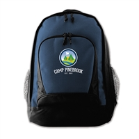 Durable nylon canvas backpack. Printed with Camp Pinebrook logo.
