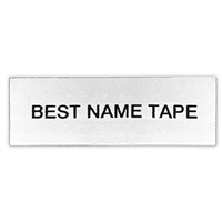 Name Tape Labels - Black - 1 Line