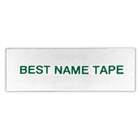Name Tape Labels - Red - 1 Line