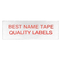 Name Tape Labels - Red - 2 Line