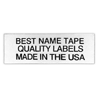 NAME TAPE LABELS - BLACK - 3 LINE