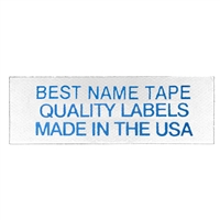 NAME TAPE LABELS - BLUE - 3 LINE