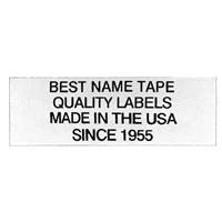 NAME TAPE LABELS - BLACK - 4 LINE