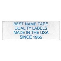 NAME TAPE LABELS - BLUE - 4 LINE