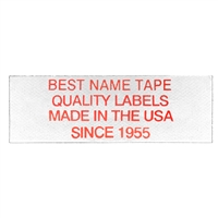 NAME TAPE LABELS - RED - 4 LINE