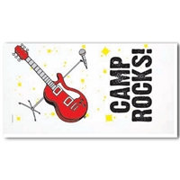 Rock and Roll themed pillowcase to remember bunkmates and friends.