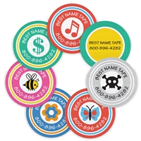 COLOR LOGOS - CIRCLE PRESS-ON LABELS