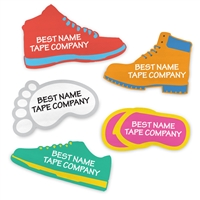 PRESS-ON SHOE LABELS